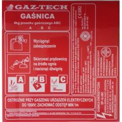 Etykieta Gp-6x remont Gaz Tech