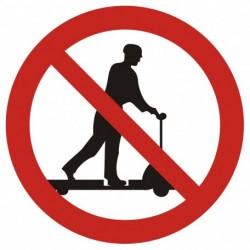 GB001 Zakaz jazdy na urządzeniach transportowych