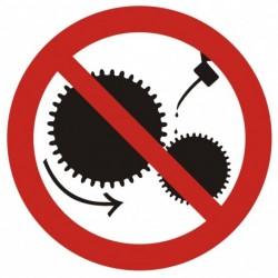 GB004 Zakaz smarowania urządzeń w ruchu