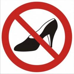 GB008 Zakaz używania obuwia na wysokim obcasie