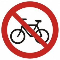 GB014 Zakaz wjazdu na rowerze