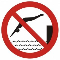 GB015 Zakaz skakania do wody