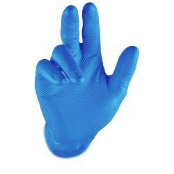 Rękawice GRIPPAZ 246A niebieski opk.100 szt.