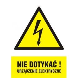 HA 001 Nie dotykać! Urządzenie elektryczne