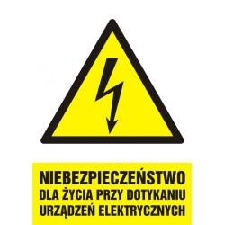 HA 006 Niebezpieczeństwo dla życia przy dotykaniu urządzeń elektrycznych
