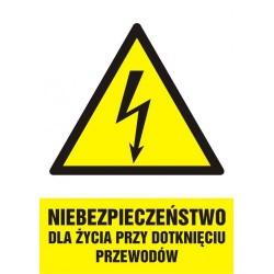 HA 007 Niebezpieczeństwo dla życia przy dotknięciu przewodów