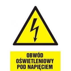 HA 009 Obwód oświetleniowy pod napięciem