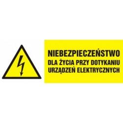 HB 006 Niebezpieczeństwo dla życia przy dotykaniu urządzeń elektrycznych