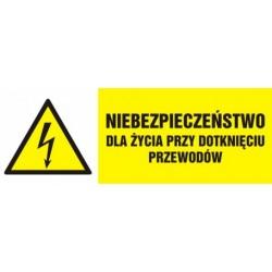 HB 007 Niebezpieczeństwo dla życia przy dotknięciu przewodów