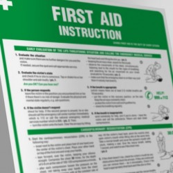 IAA  11ANG  IAngielska instrukcja udzielania pierwszej pomocy- First aid instruction