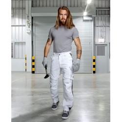 Spodnie do pasa URBAN+ biało-szare