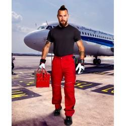 Spodnie do pasa URBAN+ czerwono-czarne