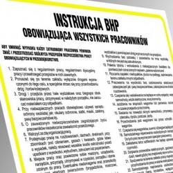 IAK 01 Instrukcja BHP na stanowisku elektromontera przy wykonywaniu i eksploatacji sieci o napięciu do 1kV