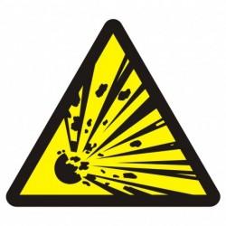 BA 016 Niebezpieczeństwo wybuchu - materiały wybuchowe