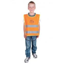Dziecięca kamizelka odblaskowa ALEX pomarańczowa