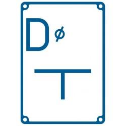 JB 003 Tablica orientacyjna dla zasuwy na połączeniu