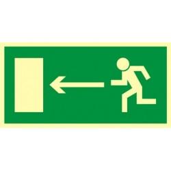AA003 Kierunek do wyjścia drogi ewakuacyjnej w lewo