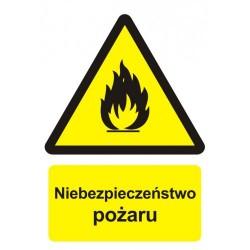BC001 Niebezpieczeństwo pożaru - materiały łatwopalne